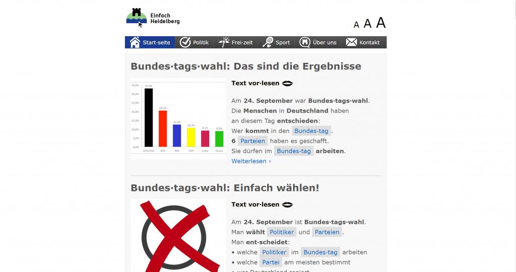 Screenshot Einfach Heidelberg
