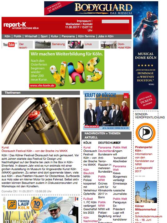 Screenshot Startseite report-k