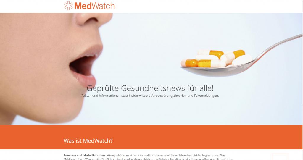 Screenshot MedWatch