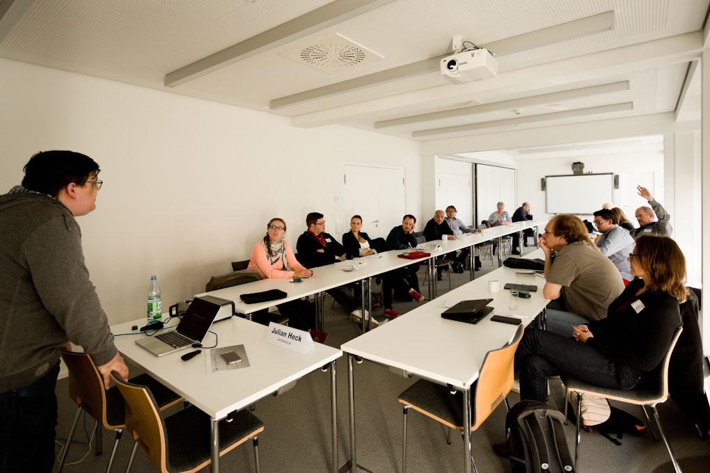 """Workshop von Julian Heck, Praxistag """"Geld verdienen im Online-Journalismus"""""""