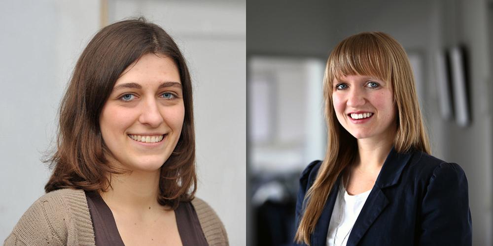 Eva Adler und Anna Katharina Wrobel v.l., Preisträgerinnen des Vor Ort NRW-Preises 2016