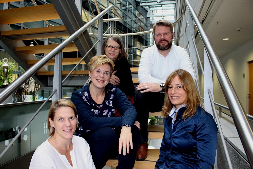 Die Jury des Vor Ort NRW-Preises 2017: Prof. Dr. Wiebke Möhring, Andrea Hansen, Bettina Blaß, Michael Krechting und Sandra Weiß (v.l.)
