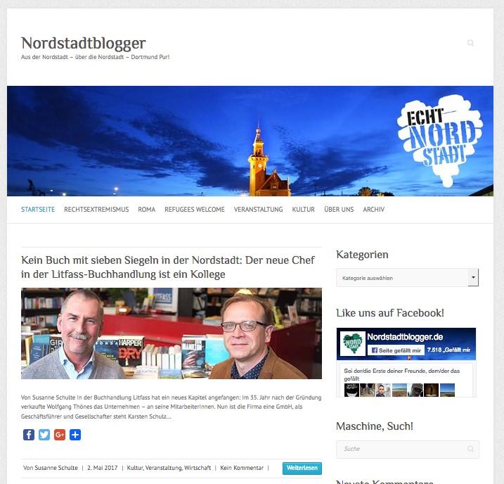 Screenshot Startseite Nordstadtblogger