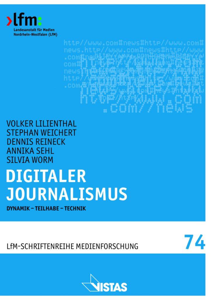 "Titelseite Studie ""Digitaler Journalismus"""