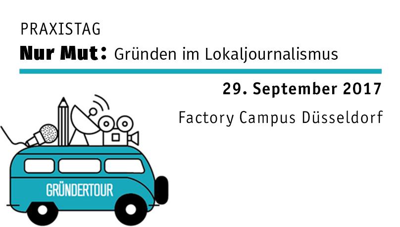Visual Gründertour Bus Praxistag Nur Mut Gründen im Lokaljournalismus