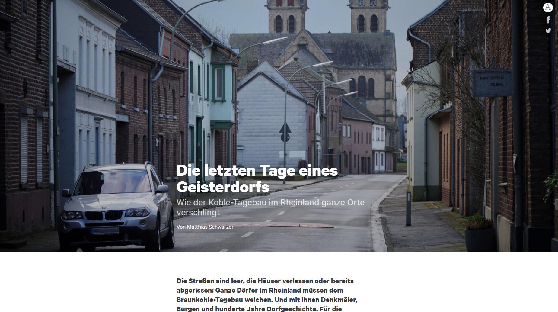 Die letzten Tage eines Geisterdorfes / NW.de Screenshot