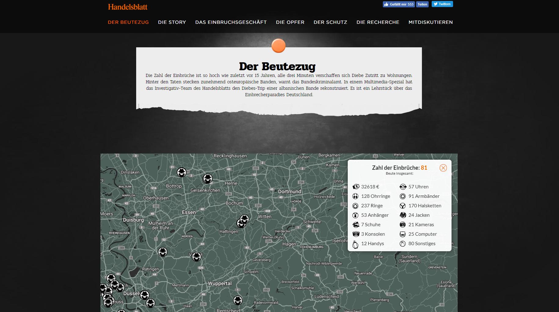Der Beutezug / Handelsblatt Screenshot