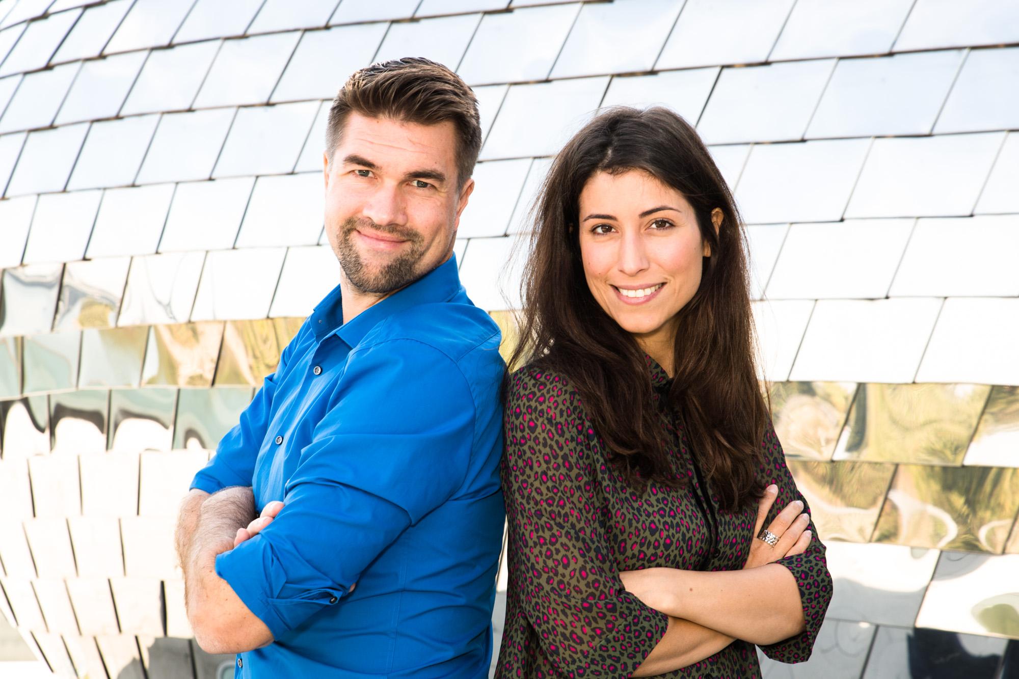 Teamfoto von Laura Rohrbeck und Thorsten Lenze.