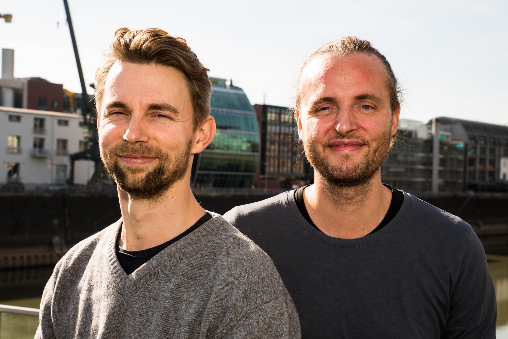 Team-Foto von Dario Albiez und Sebastian Wehkamp.
