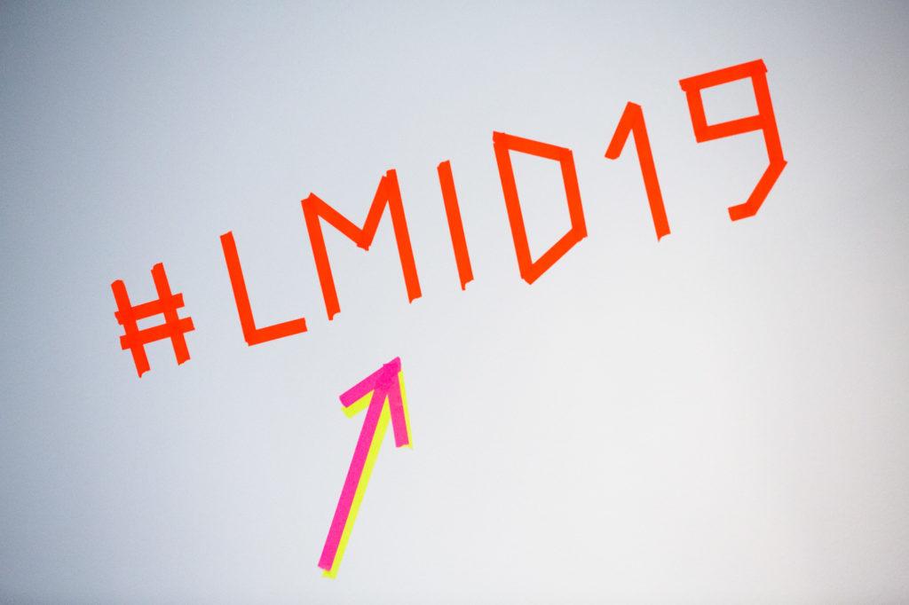 Grafik mit Schriftzug #LMID19.