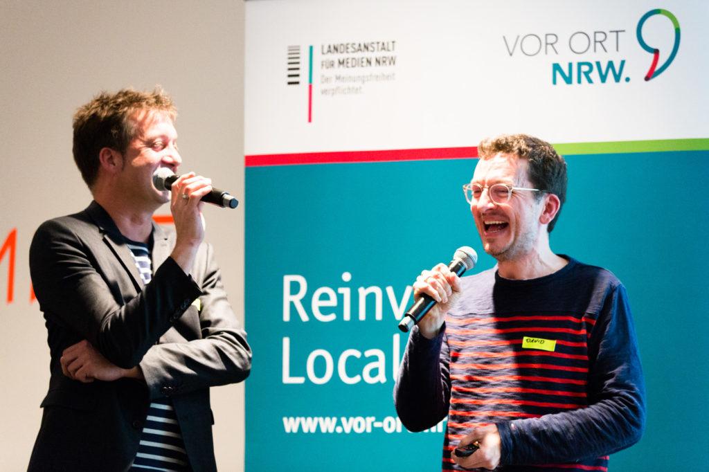 David OhrndorfundStefan Domke am Mikrofon