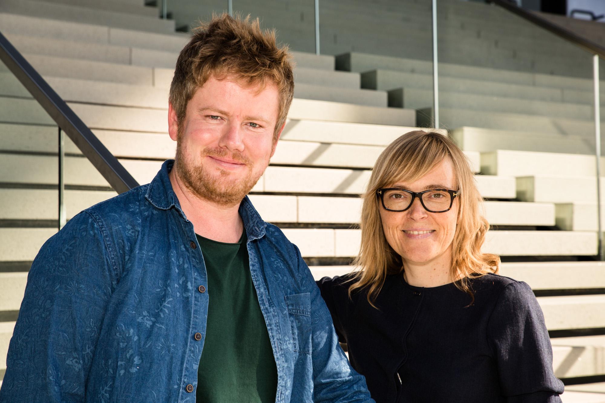 Team-Foto von Steffi Krohmann und Simon Sturm.