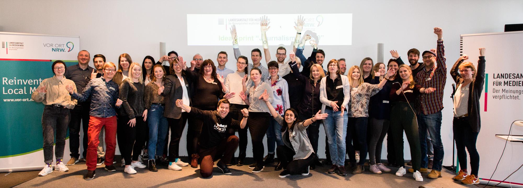 Gruppenbild der Teilnehmenden des Idea Sprint 2019.