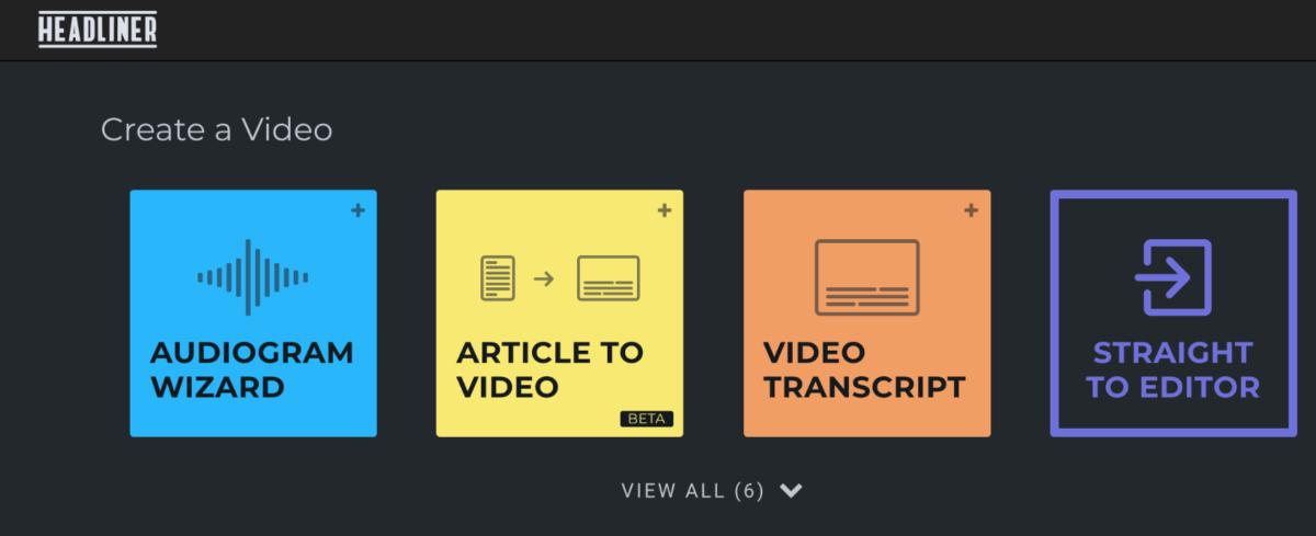 Der Screenshot zeigt die Auswahlmöglichkeiten im Tool.