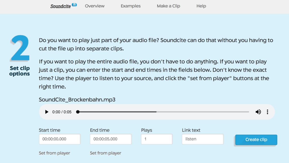 Ein Screenshot des Tools, mit dem Audio-Einstellungen vorgenommen werden können.