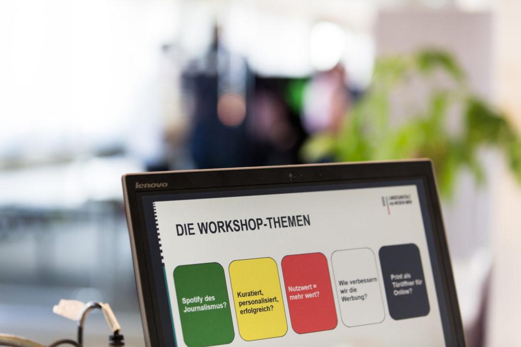 Eine Übersicht der Workshop-Themen.