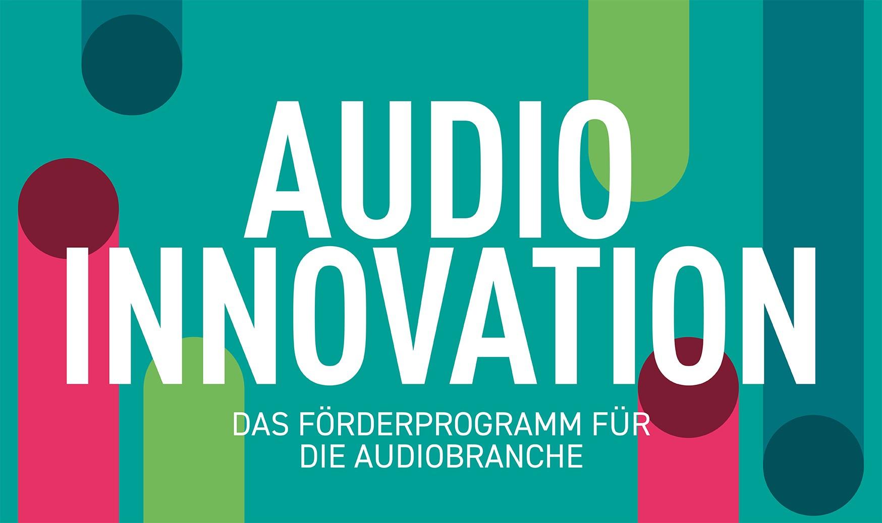 Grafik des Förderprogramm Audio Innovation.