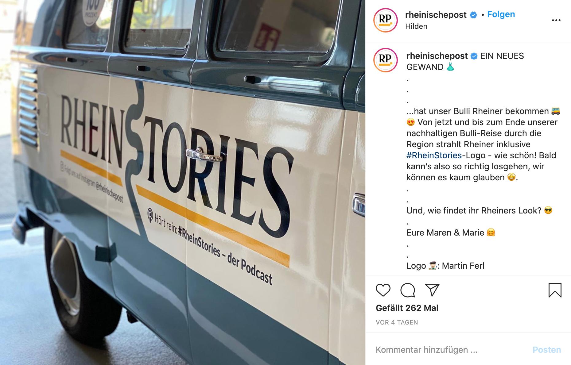 Screenshot eines Instagram-Posts der Rheinischen Post.