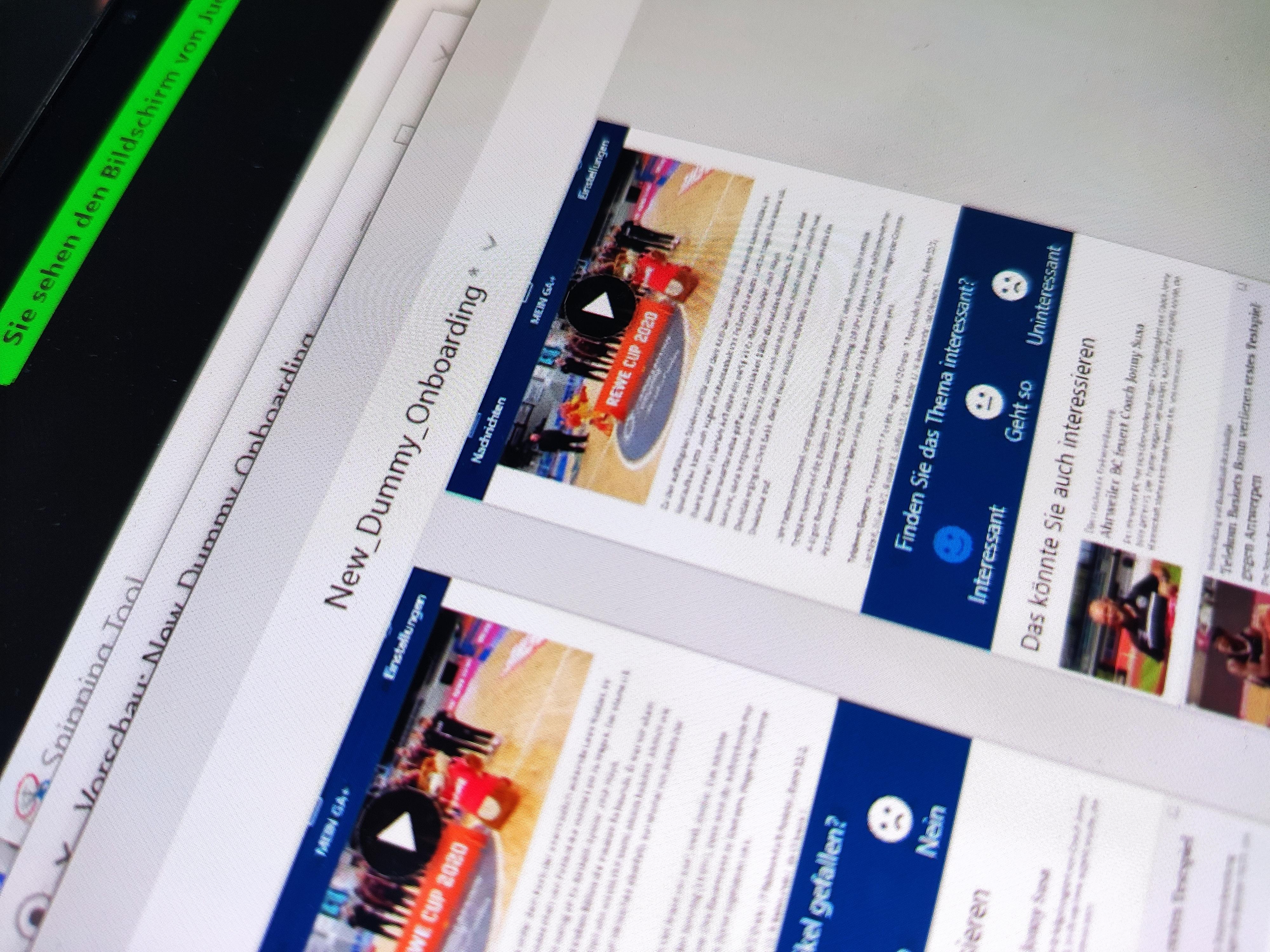 Screenshot eines Prototypen beim Hackathon 2020.