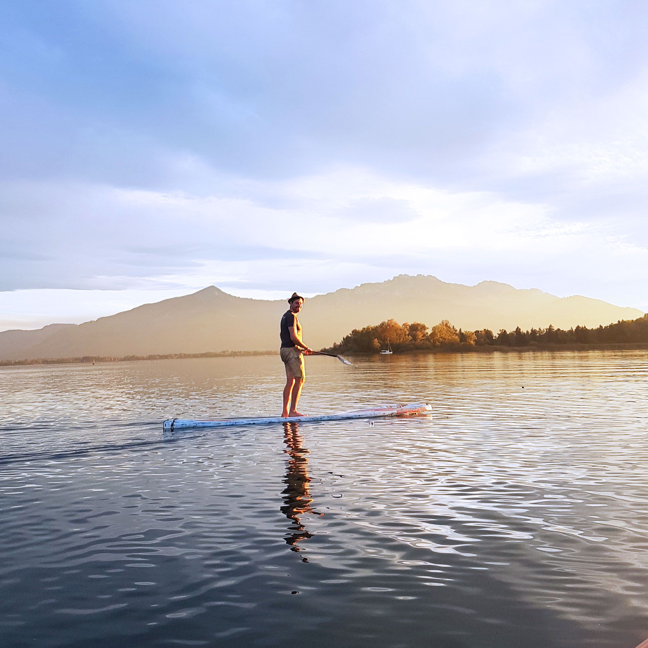 Stand Up Paddle auf See