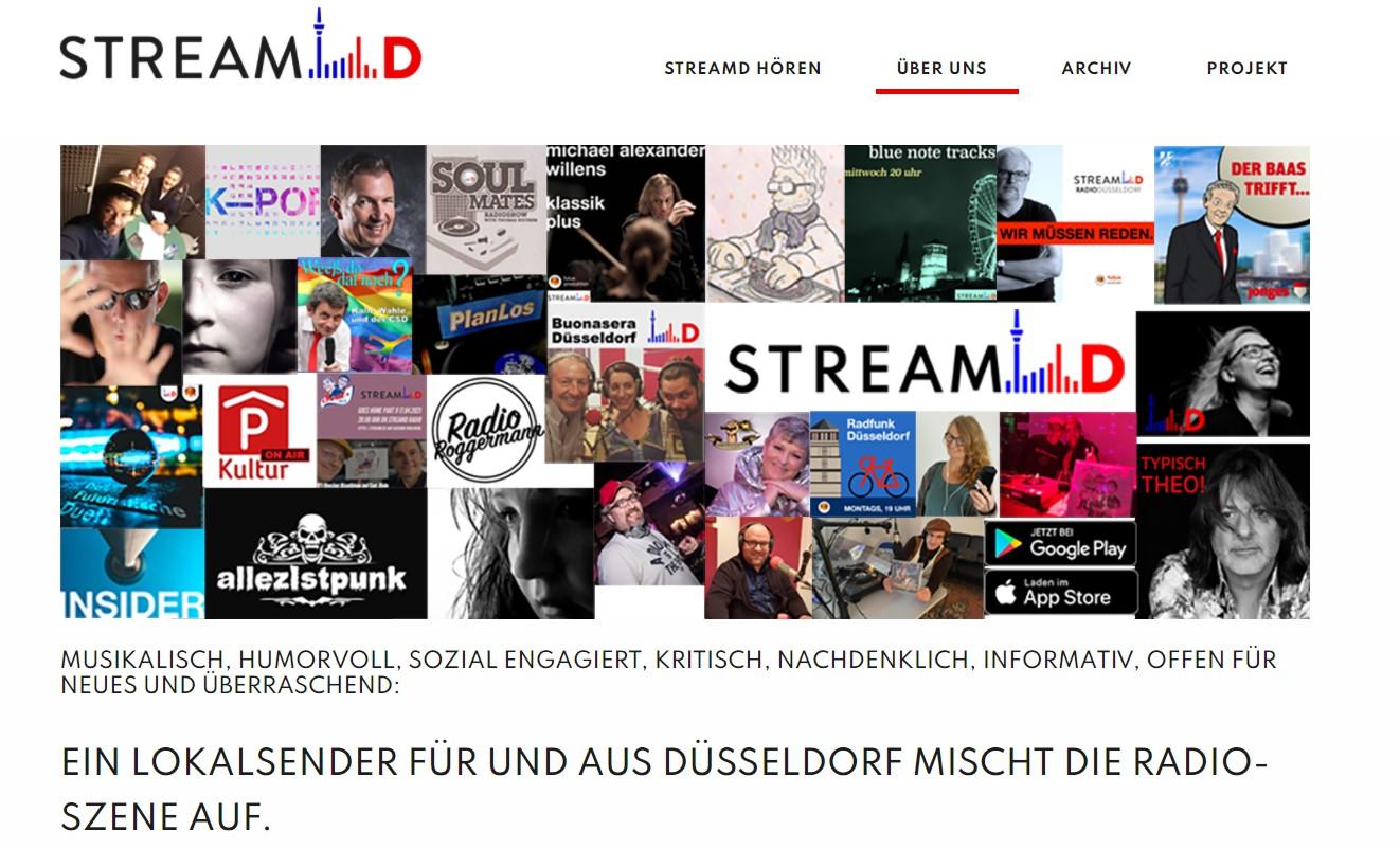 Screnshot Website Stream D